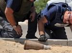 פצצת מרגמה. צילום: משטרת ישראל