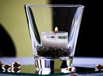 כוס זכוכית לנר