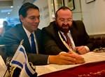 הרב דוד אברהם פרסמן עם השגריר דני דנון