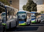 שרשרת מחאה של אוטובוסים בחברת קווים