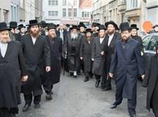 הרבי מסאטמר, בדרכו לישראל