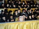 הרבי מסאטמר נואם בקבלת פנים בירושלים
