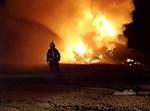 מסוק יסעור ביצע נחיתת חירום ועלה באש