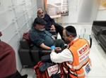 הגר הפלסטיני נבדק באיחוד הצלה