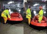 חילוץ אזרחים באשקלון עם סירה