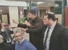 יוסי דגן מתעמת עם פעילי BDS במדריד