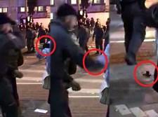 הבחורה תיעדה - השוטר העיף את המצלמה