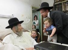 """הרב בש ורעייתו ע""""ה אצל מרן הרב שטיינמן"""