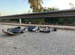 חלקי האופניים לאחר התאונה