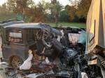 רכב ההסעות לאחר התאונה
