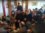 """הרב דרוקמן בעמונה, היום (צילום: יב""""ע)"""