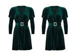 שמלה קטיפה ברשת רנואר