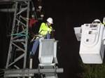 עובדי חברת החשמל בפעולה