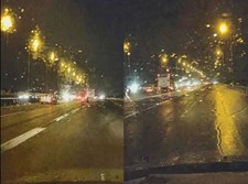 התאורה הבינעירונית בכביש 2