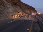 הכביש לאחר התמוטטות ההר