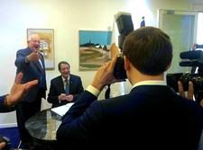 מקרון מצלם את ריבלין ונשיא קפריסין