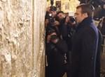 נשיא צרפת עמנואל מקרון בכותל