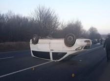 הרכב שהיה מעורב בתאונה באוקראינה