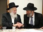 """השר דרעי עם בכיר רבני חב""""ד הרב ירוסלבסקי"""