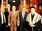 """הרב גיגי עם ראש ממשלת בלגיה בפתח ביהכ""""נ הגדול בבריסל"""