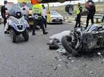 רוכב אופנוע נהרג בכביש 443