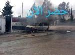 רכב הצלפים שהותקף בסוריה