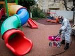 חיטוי גן ילדים מחשש לקורונה
