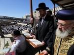 הרבנים הראשיים בתפילה בכותל