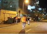 עובד פינוי האשפה רוקד