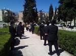 מסע הלוויה היום ברחוב סנהדריה
