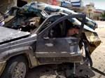 רכב שהופגז בלבנון