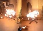 אש בחצר ביתו של אריה קינג