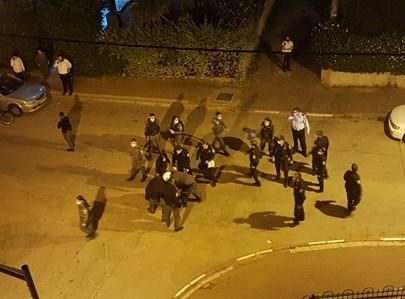 שוטרים ברחוב נחמיה בבני ברק
