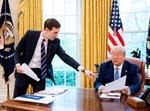ג'ארד קושנר עם חותנו הנשיא טראמפ
