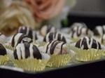 עיגולי חלווה מצופים שוקולד