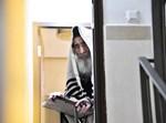 הרבי מאלכסנדר משתתף בשחרית מפתח ביתו