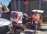 זירת התאונה בטבריה