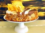 עוגת מוס שוקולד קראנץ פרלינה וקרמו קרמל