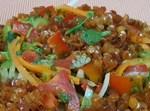 סלט עדשים עם ירקות מרענן