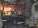 הדירה לאחר השריפה