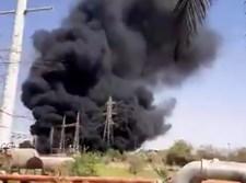השריפה בתחנת הכוח