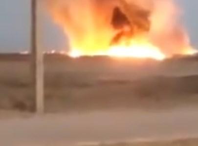הפיצוץ והשריפה באיראן
