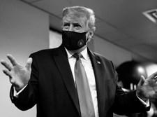 טראמפ עם מסכה