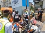 רוכב האופנוע התנגש בעמוד