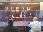 הפגישה של ראשי הסיעות עם אדלשטיין