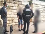 החשוד נעצר על ידי כוחות המשטרה