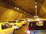 הפקק בערב שבת במנהרת הראל