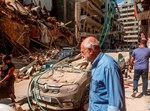 ההריסות בביירות בעקבות הפיצוץ