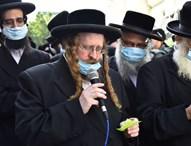 הרבי החדש משומרי אמונים מספיד בלוויה