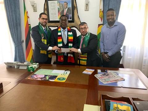 """עו""""ד אוסדיטשר מונה לקונסול כבוד של זימבבואה"""